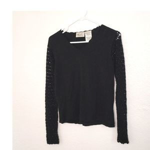 Kathie Lee Collection Black Crop Sweater size S